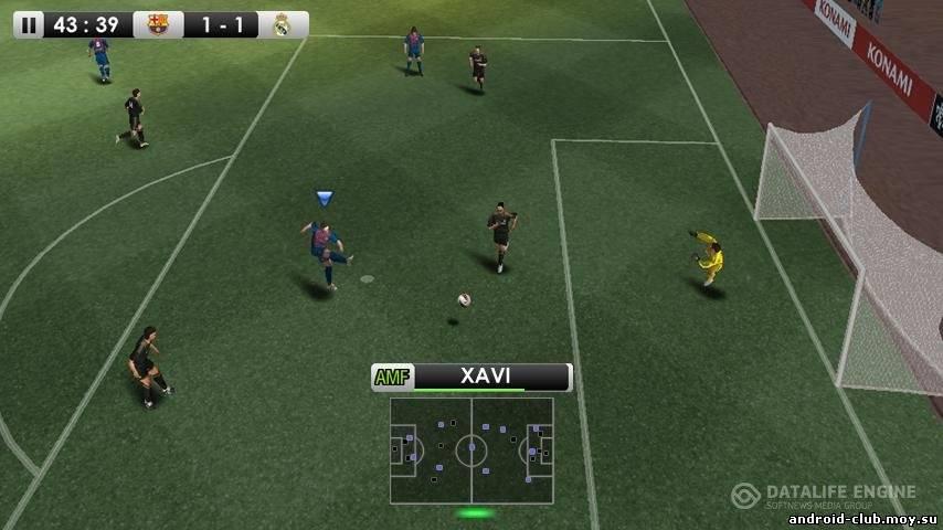 Скриншот PES 2012 — Лучший Футбол на планшет