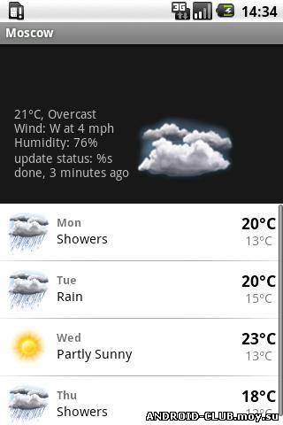 Миниатюра Weather Forecast & Clock Widget — Аналог  HTC Sense Android