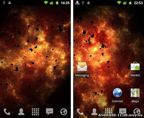 Скриншот Inferno Galaxy — Живые Обои на планшет