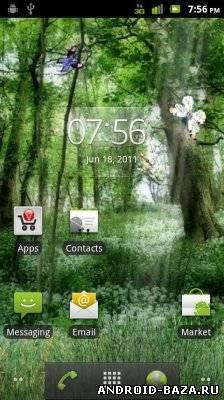 Картинка Butterfly Forest HD LWP — Живые Обои на телефон