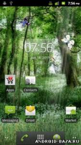 Изображение Butterfly Forest HD LWP — Живые Обои на телефон