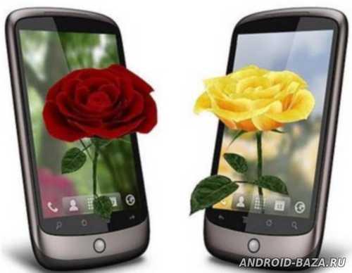 Живые Обои 3D Розы андроид