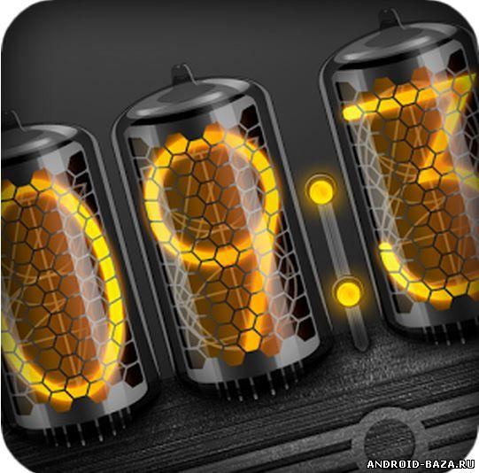 Картинка Виджеты андроид Темные Ламповые Часы - HD виджет