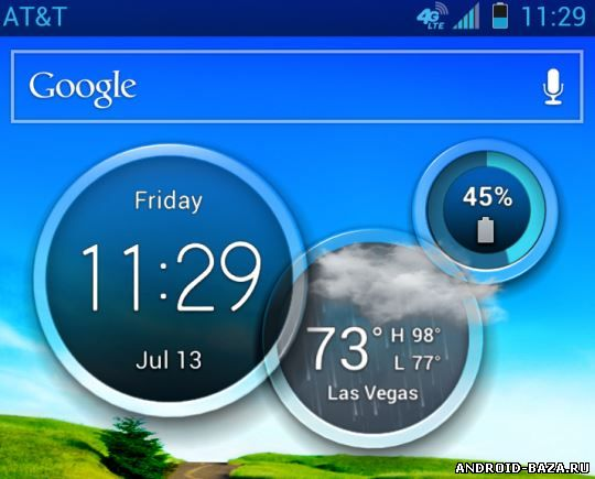 One More Clock Widget FREE на телефон