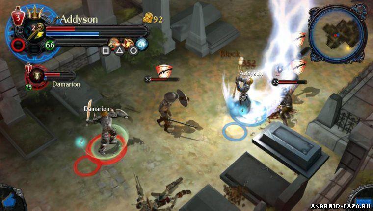 Скриншот Dungeon Hunter 4 на планшет