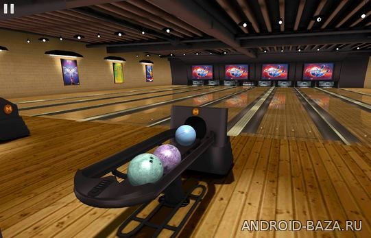Galaxy Bowling 3D HD. Скриншот 3