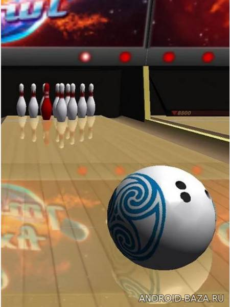 Galaxy Bowling 3D HD. Скриншот 2