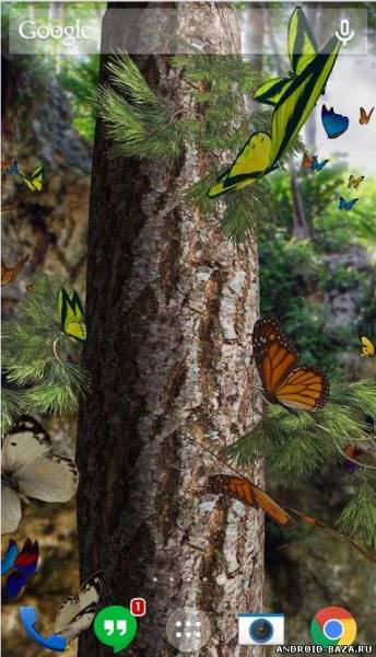 Бабочки 3D живые обои на телефон