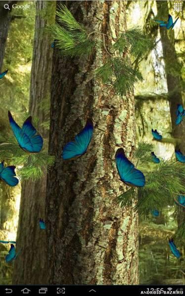 Бабочки 3D живые обои на планшет