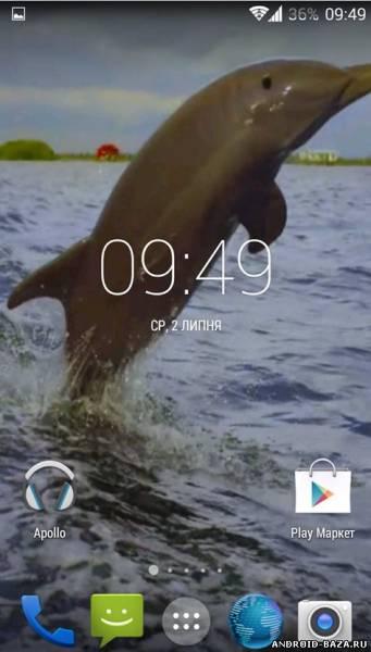 Дельфин 3D - Видео Обои на телефон