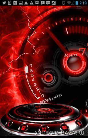 Миниатюра Red Drift - тема со спидометром Android
