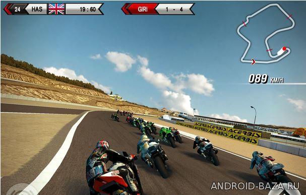Скриншот SBK15 - Гонки на Мотоциклах на планшет