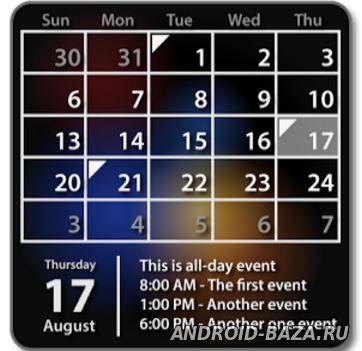 Картинка Виджеты андроид Виджет Календарь