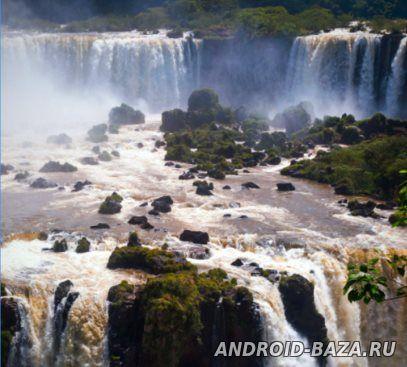 Живые обои Видео обои: Водопад