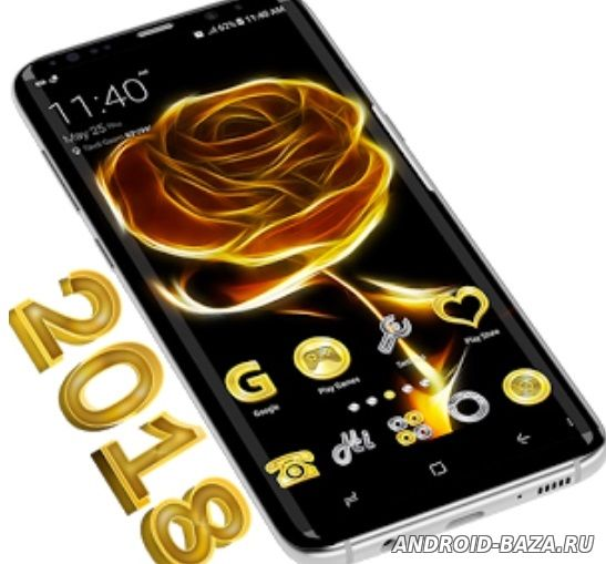 Golden Rose Theme - золотая роза для андроид