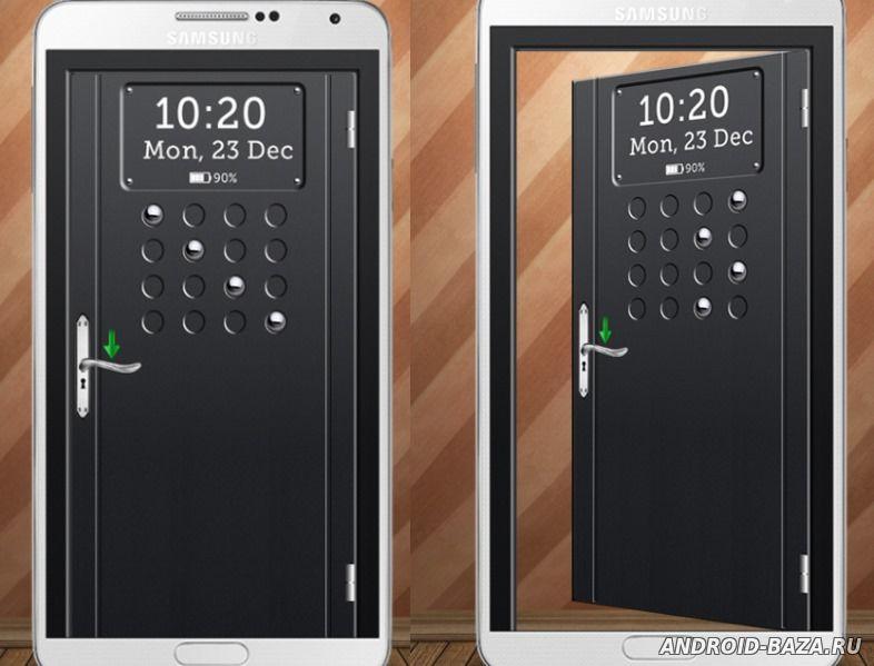 Скриншот Дверь - экран блокировки на планшет