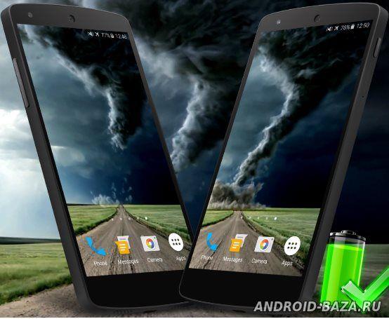 Скачать Торнадо — Видео Живые Обои про андроид