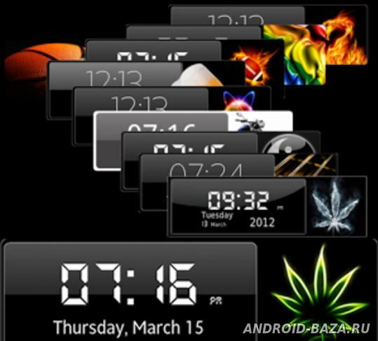 Картинка Виджеты андроид Виджет Часов HD