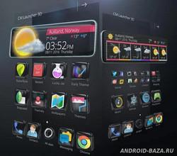 Техно-тема «3D стекло» для андроид