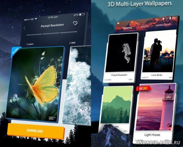 Изображение 3D Wallpaper Parallax 2018 на телефон