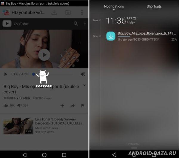 HD YouTube Video Downloader на планшет
