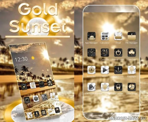 Gold Coast Luxury Deluxe тема для Android