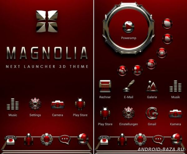 Magnolia Next Launcher Theme 2