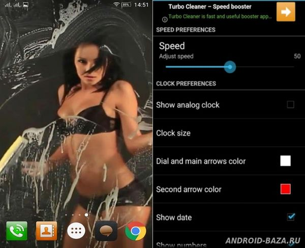 Phone Washing Girl HD LWP на планшет