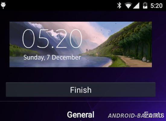 Виджет Часов HD на планшет