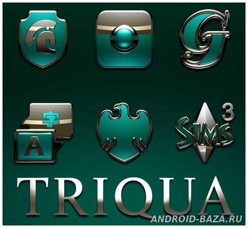 TRIQUA Next Launcher 3D Theme Скриншот