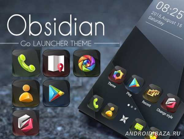 Obsidian GO Launcher Theme