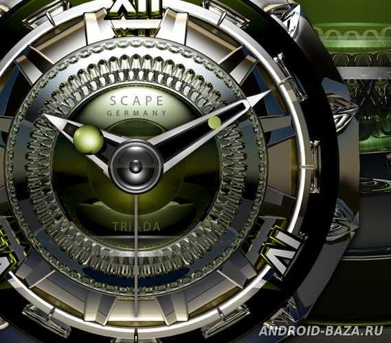 TRIADA Luxury Clock Widget Скриншот