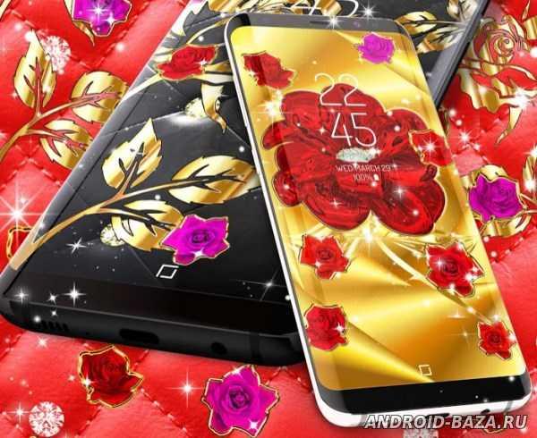 Золотые розы на планшет
