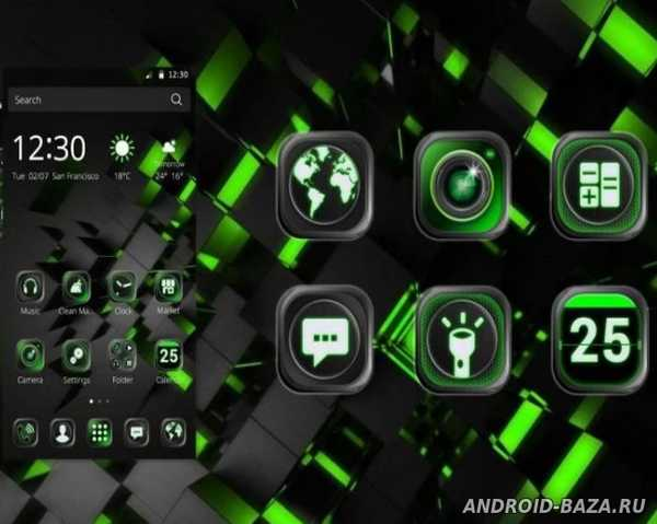 Black Technology Theme Скриншот 3