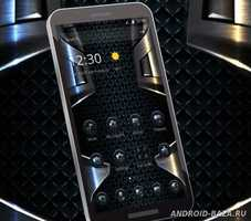 Black Grid Metal Theme 1