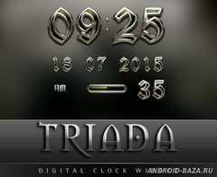 TRIADA Luxury Clock Widget. Скриншот 3