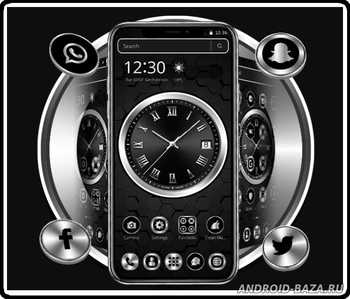 Картинка Black Metal Luxury Watch Theme