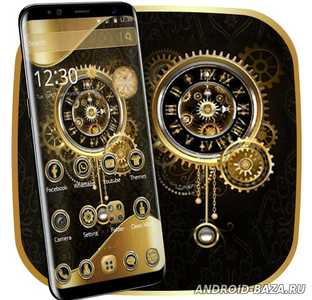 Clock Luxury Gold Theme на телефон