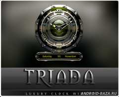 TRIADA Luxury Clock Widget. Скриншот 2