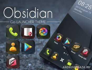 Obsidian GO Launcher Theme 1