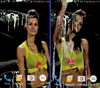 Hot Screen Washer Girl Wallpaper на планшет