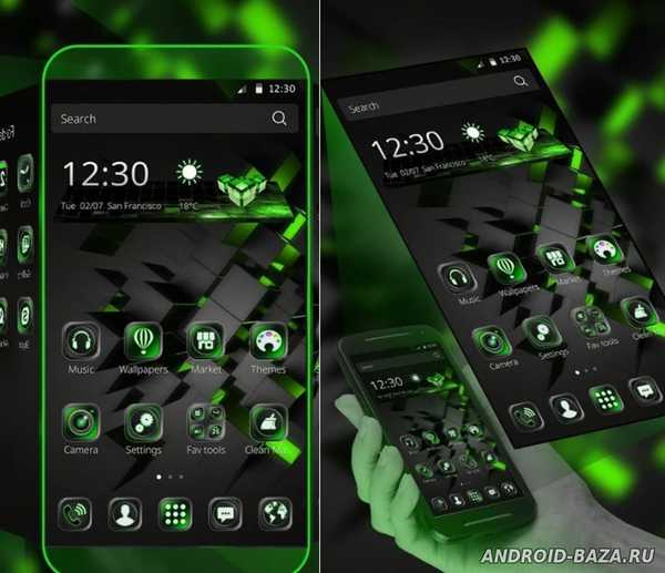 Black Technology Theme Скриншот 2