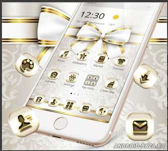 Extravagant Platinum Gold Bowknot Theme