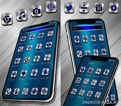 Black Blue Metal Launcher Theme
