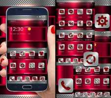 Red Silver Metal Theme 3