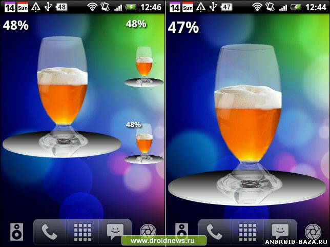 Free Beer Battery Widget — Виджет андроид