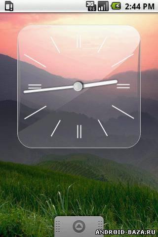 Изображение Glass Clock Widget — Виджет на телефон