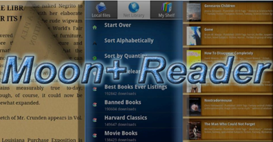 Moon Reader Pro на телефон