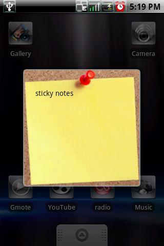 Виджеты Sticky Note — Блокнот