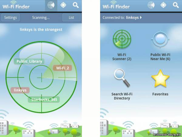 Браузеры WiFi Finder — Поиск Wi-Fi